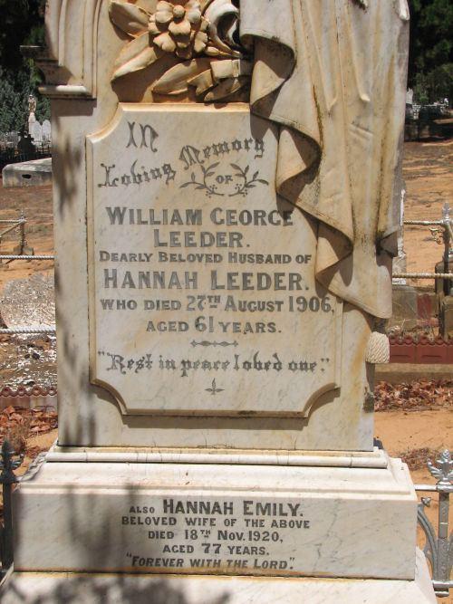 William George Leeder William George Leeder c1845 1906 Genealogy