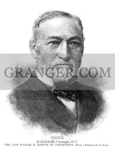 William Henry Barnum Image of WILLIAM HENRY BARNUM 18181889 American Politician