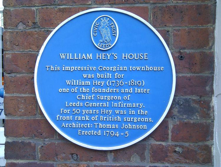 William Hey (surgeon) William Hey blue plaque Open Plaques
