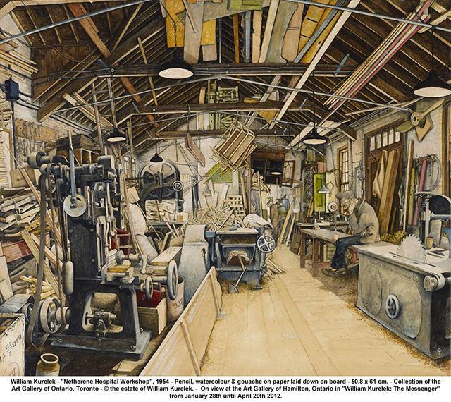 William Kurelek William Kurelek The Messenger at The Art Gallery of Hamilton