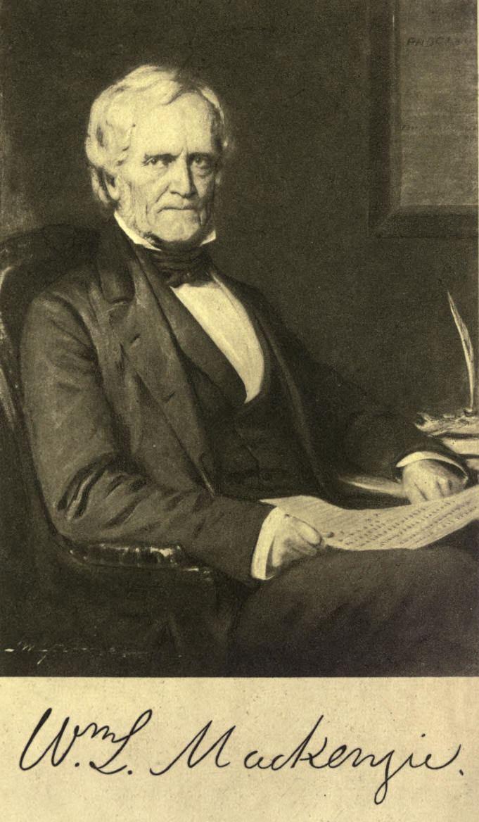 William Lyon Mackenzie Canadian History William Lyon Mackenzie