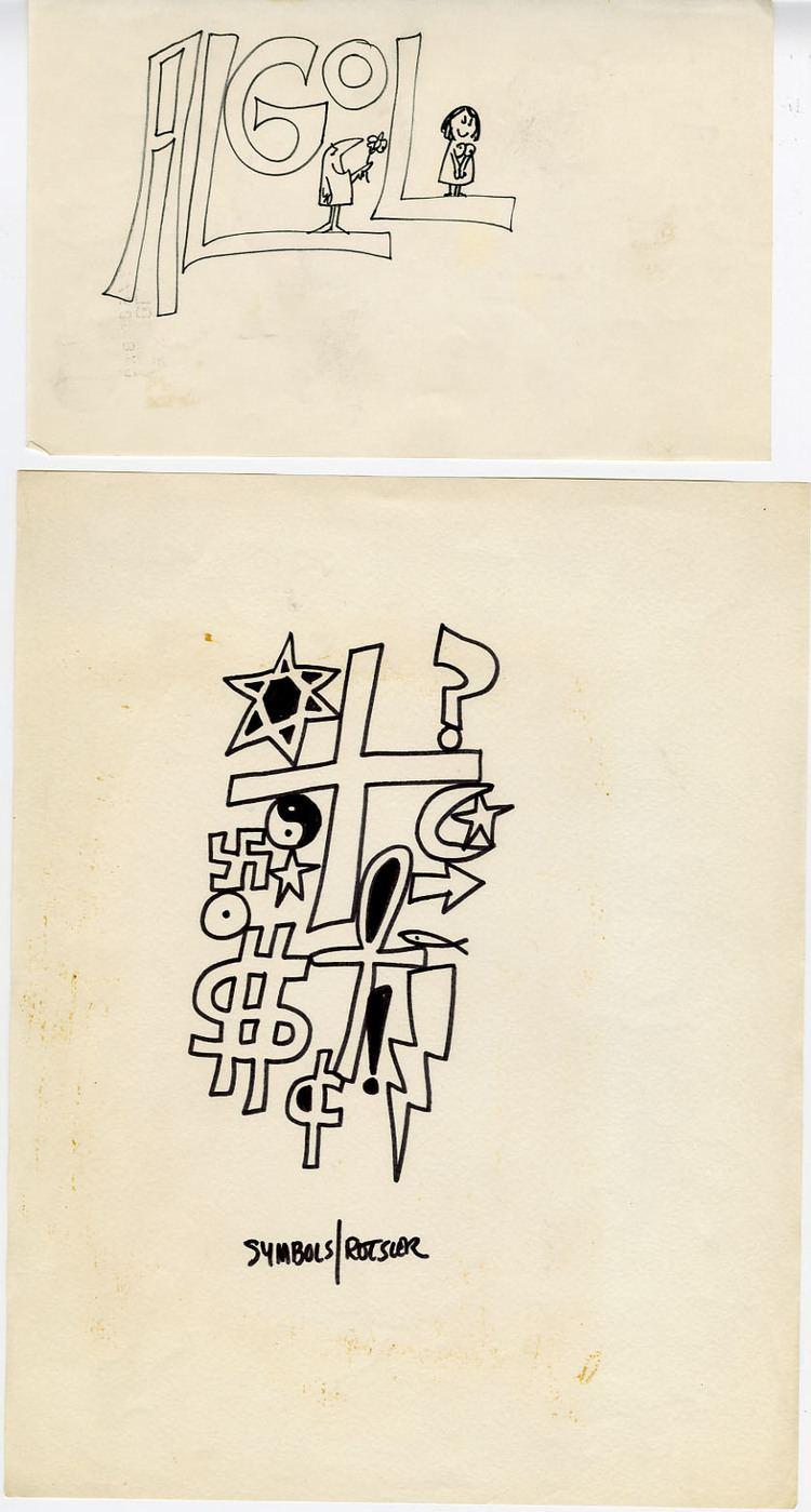 William Rotsler WILLIAM ROTSLER CARTOON SKETCHES ORIG ART ALGOL Lewis