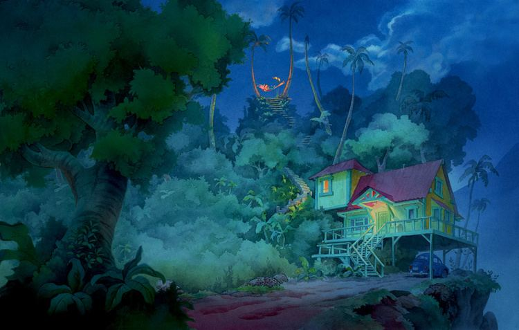 William Silvers William Silvers Lilo and Stitch Lilos House Magic Of Disney Art