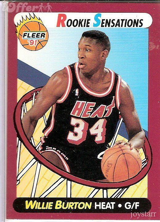 Willie Burton 199192 Fleer Rookie Sensations 7 Willie Burton for sale