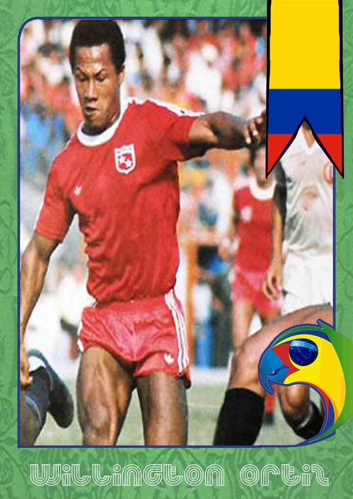 Willington Ortiz World Cup Legends Colombia Willington Ortiz Back Page Football