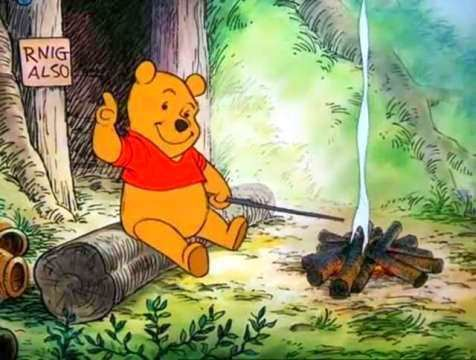 Winnie the Pooh and the Blustery Day movie scenes Winnie the Pooh 1 Christopher Hold on tight Four Three Two One