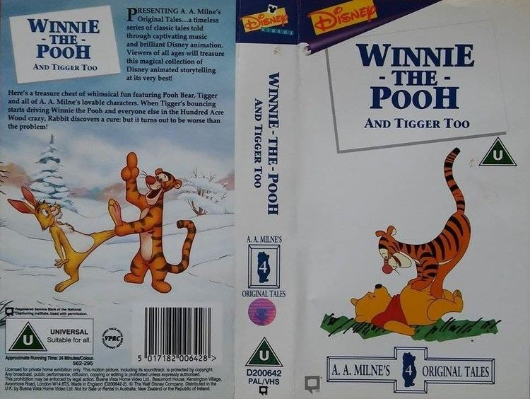 Winnie the Pooh and Tigger Too Winnie the Pooh and Tigger Too 1995 UK VHS YouTube