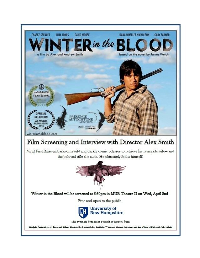 English Winter in the Blood Film Screening and Interview with
