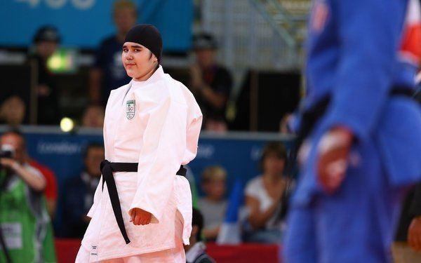 Wojdan Shaherkani Wojdan Shaherkani First Female Saudi Olympian Loses in