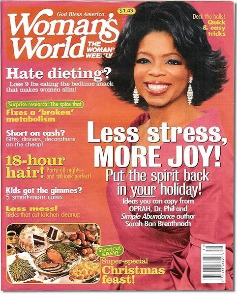 Woman's World Change Thats Right Now Review WOMANs WORLD MAGAZINE OPRAH COVER
