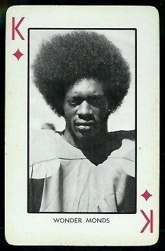 Wonder Monds Wonder Monds 1973 Nebraska Playing Cards 13D Vintage Football
