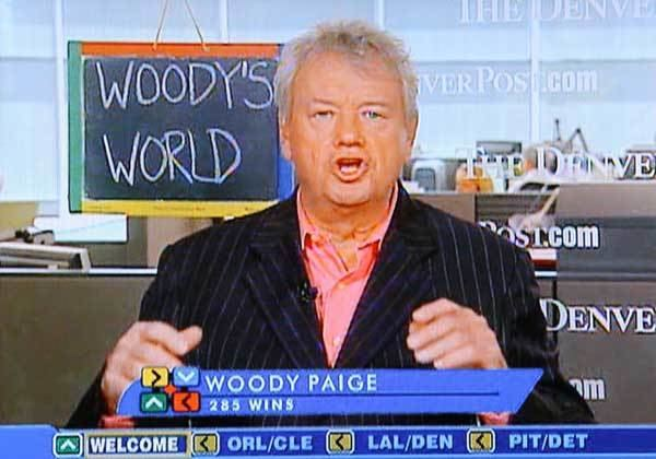 Woody Paige Denver Post Columnist and Around the Horn Panelist Woody