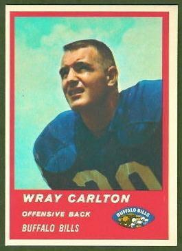 Wray Carlton wwwfootballcardgallerycom1963Fleer25WrayCar