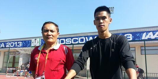 Xaysa Anousone Mondiaux dathltisme Xaysa Anousone seul coureur du Laos