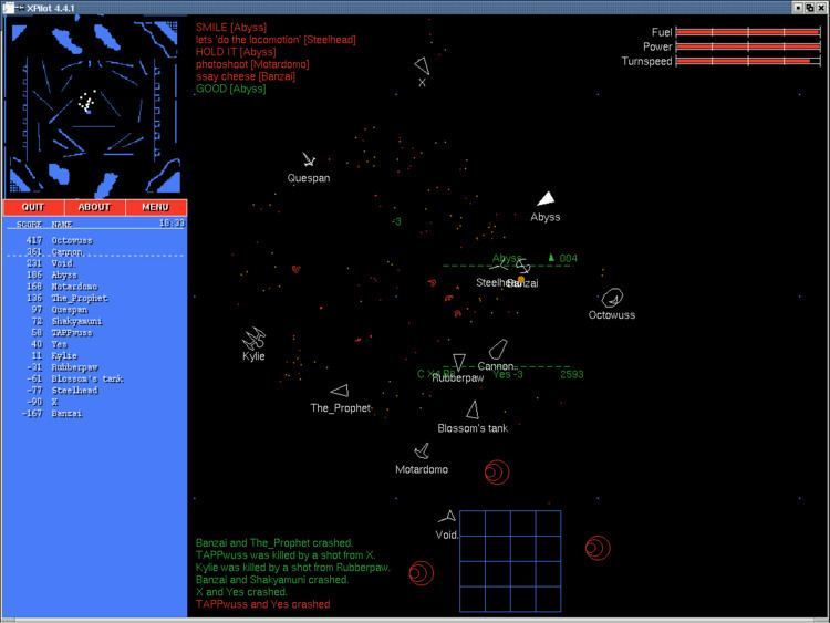 XPilot XPilot an Online Multiplayer Space Action Game FOSS Games and