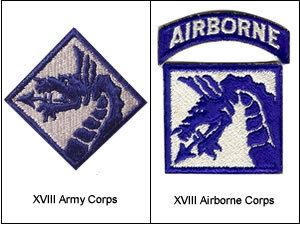 XVIII Airborne Corps XVIII Corps XVIII Airborne Corps ARMY CORPS US Militaria Forum