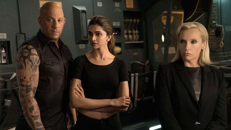 Vin Diesel, Deepika Padukone and Toni Collette in a scene from the 2017 movie, XXX: Return of Xander Cage
