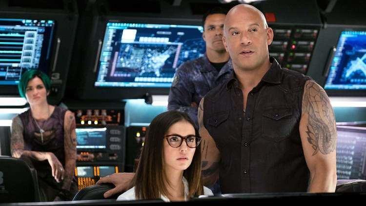 Ruby Rose, Nina Dobrev, Tony Gonzalez and Vin Diesel in a scene from the 2017 movie, xXx: Return of Xander Cage