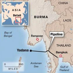 Yadana gas field Yadana Natural Gas Pipeline and Project Revenue