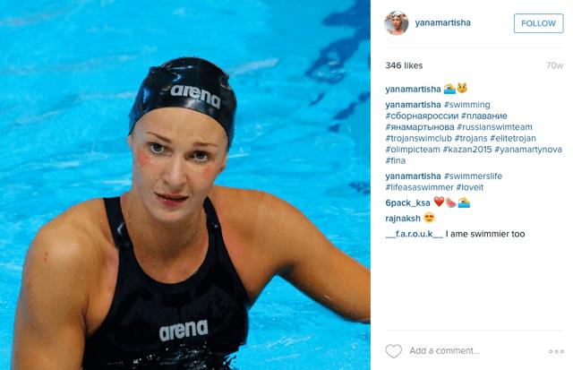 Yana Martynova Yana Martynova Russian swimmer tests positive for doping