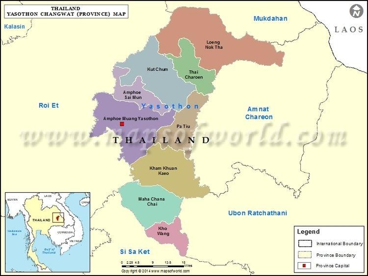 Yasothon Map Map of Yasothon Province Thailand