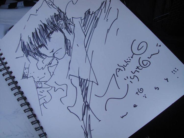 Yasuhiro Nightow Sketching with Mr Yutaka Minowa amp Mr Yasuhiro Nightow
