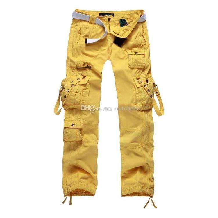 yellow cargo pants Pi Pants