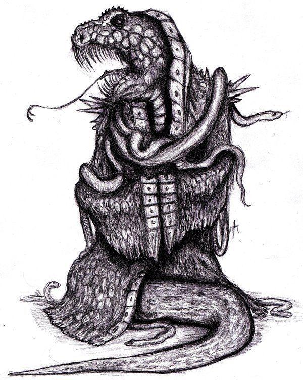 Yig Reptilan Inhabitant of Nameless City by KingOvRats on DeviantArt
