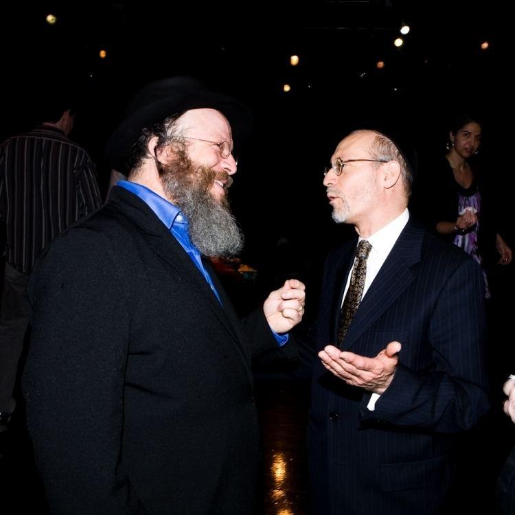 Yisrael Campbell Yisrael Campbell with Mohel Rabbi Yehoshua Krohn HiRes