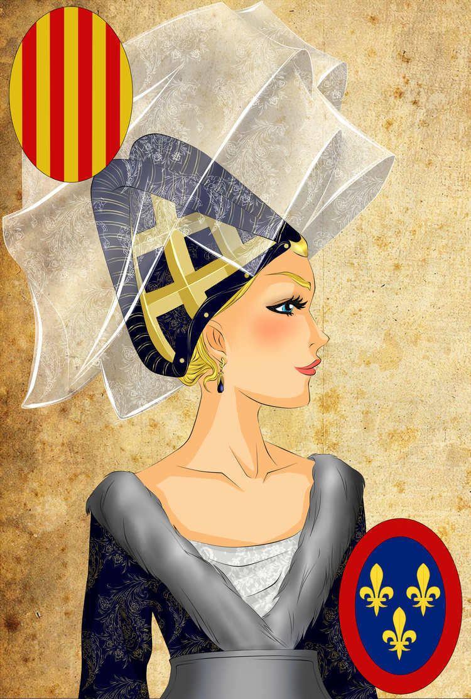 Yolande of Aragon Portrait fictif de Yolande dAragon 17th Century Pinterest Aragon
