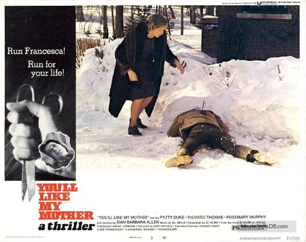 You'll Like My Mother ll Like My Mother Lobby card with Richard Thomas Rosemary Murphy