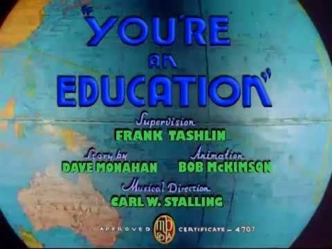 Youre an Education 1938 recreated titles YouTube