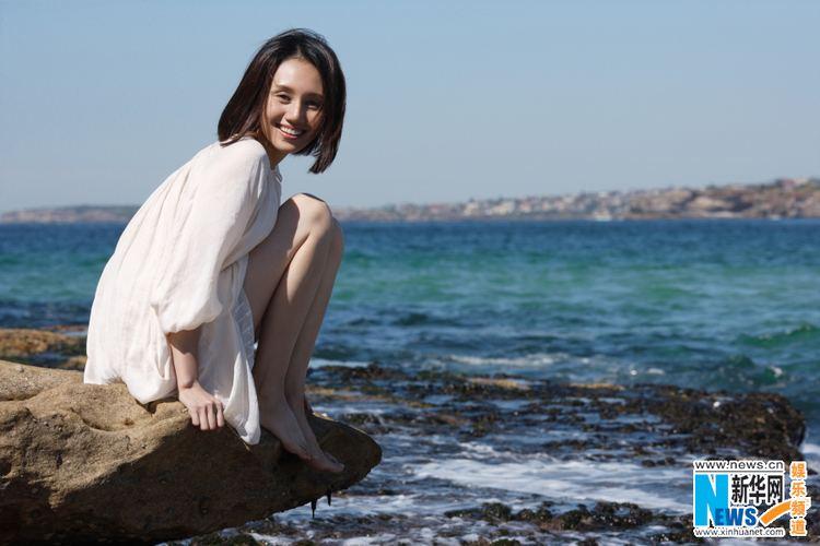 Yuan Quan Actress Yuan Quan poses on beach2 Chinadailycomcn