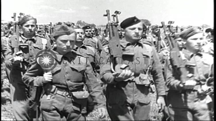 Yugoslav Partisans The Yugoslav Partisans dressed in uniforms march during World War II
