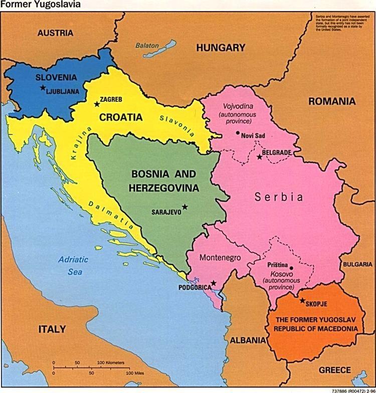 Yugoslavia Former Yugoslavia Maps PerryCastaeda Map Collection UT Library