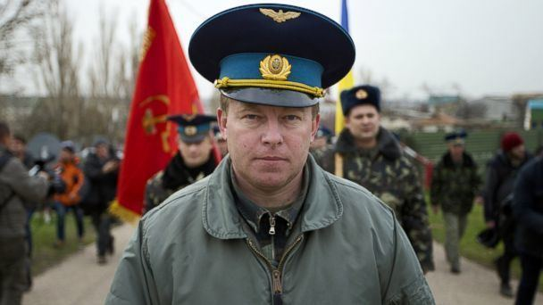 Yuliy Mamchur As Russia Takes Over Base in Crimea Is a Lonely Island
