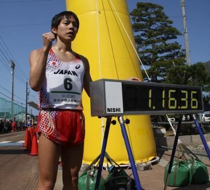Yusuke Suzuki (racewalker) We update Nomishi allJapan racewalking Nomi meeting boy 20km