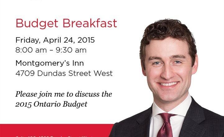 Yvan Baker News Etobicoke Centre Budget Breakfast with MPP Yvan Baker