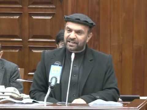Zahir Qadir Haji Abdul Zahir Qadeer Speech on 25112015 About Nangarhar