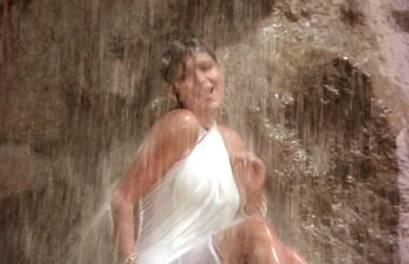 Zeenat (film) movie scenes Much before Mandakini Raj Kapoor had used the white cloth under waterfall gimmick on another beauty Zeenat Aman in Satyam Shivam Sundaram But that film