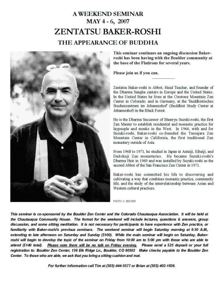 Zentatsu Richard Baker Cuke Sangha News through 07