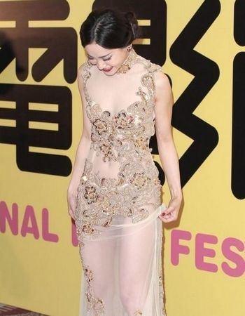 Zhou Chuchu Actress Zhou Chuchu wearing seethrough dress
