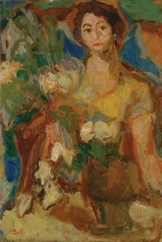 Zora Petrović Arte Aukcije Zora Petrovi ena sa cveem