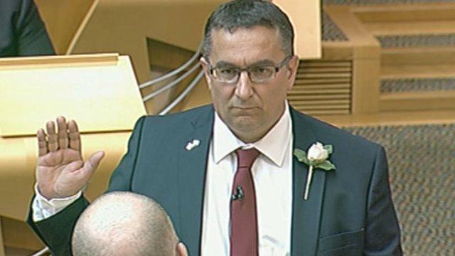 Christian Allard BBC Democracy Live First Frenchborn MSP sworn in
